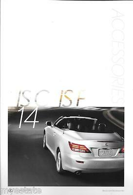 2014  14  Lexus ISC ISF  Accessories original sales brochure MINT