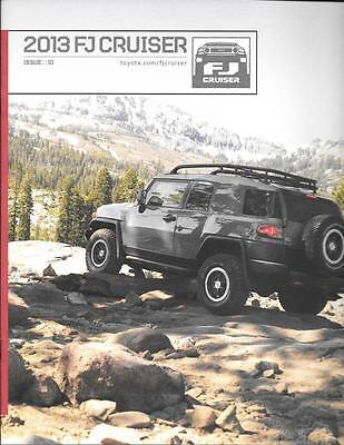 2013 13 Toyota FJ Cruiser  oiginal sales brochure MINT