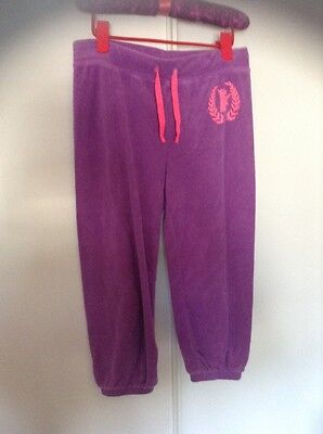 juicy couture purple terry lounge capris girls size 10-12