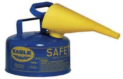 1 gal. Blue Galvanized Steel Type I Safety Can, For Kerosene EAGLE UI-10-FSB
