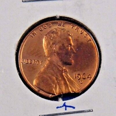 1964 d penny mint error