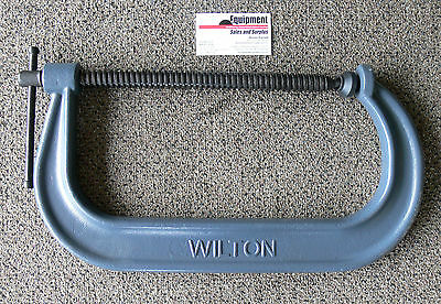 "Wilton 12"" C-Clamp with Black Oxide Spindle ~ Model 412"