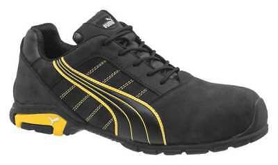 PUMA SAFETY SHOES 642715 Athletic Style Work Shoes, 9W, Black, PR