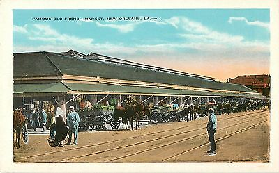 c1920 Famous Old French Market, New Orleans, Louisiana Postcard