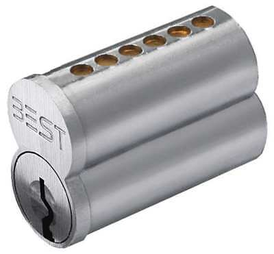 Interchangeable Core, Satin Chromium Plated, Keyway Type A BEST 1C6A1626