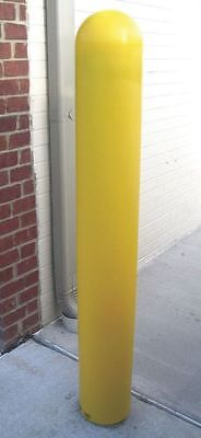 BPD-YL-6-52-S Bollard Cover, 6 In Dia., 52 In H, Yellow