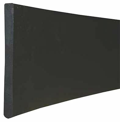 Round Non-Tapered Edge Replacement Squeegee Blade, Black ,Tough Guy, SP50072GR