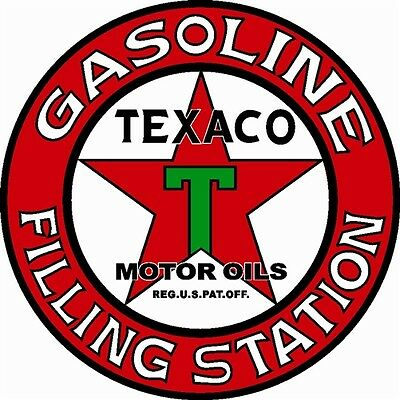 "Texaco Filling Station Motor Oils Red Star Metal Large 25.5"" Steel Sign Garage"