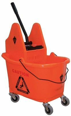 Mop Bucket and Wringer,8-3/4 gal.,Orange TOUGH GUY 5CJK5