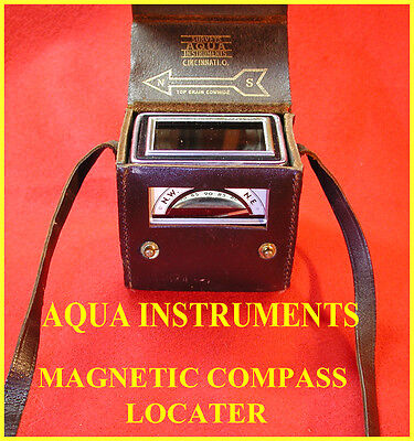 Aqua Instruments Compass Locator With Leather Carrying Case-Unusual!