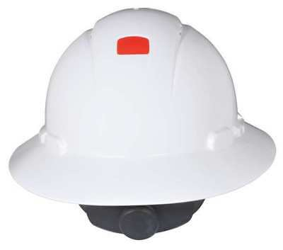 3M H-801V-UV Hard Hat,Full Brim,4pt. Ratchet,White