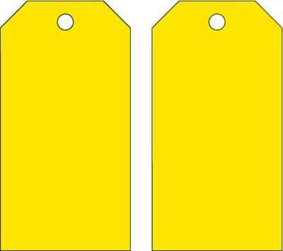 Blank Tag,5-3/4 x 3 In,Yellow,PK25 BRADY 65373