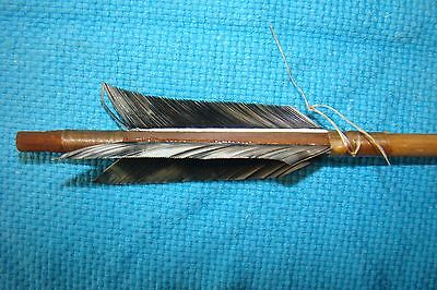 1 One Handmade Navajo 26 inch  Arrow w/Turkey feathers & Stone chipped Arrowhead
