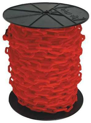 """MR. CHAIN 50105 2"""" (#8, 51 mm.) x 125 ft. Red Plastic Chain"""
