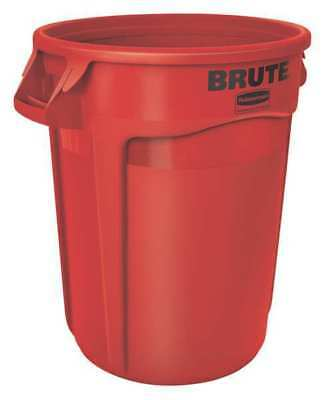 Brute 20 gal. Red Polyethylene Round Utility Container RUBBERMAID FG262000RED