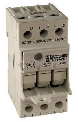 MERSEN USFMCC Fuse Holder, 30A AC, 600V, 3Pole, FingerSafe