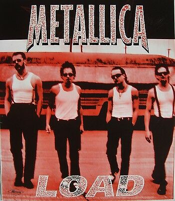 "Metallica ""load - Group Walking In White T-Shirts"" Australian Promo Poster"