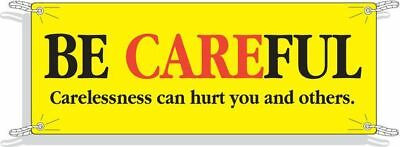 Safety Banner,42 x 120In,Vinyl,Text,ENG