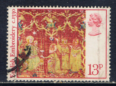 Great Britain #801(1) 1976 13 pence CHRISTMAS EMBROIDERY - THREE KINGS & GIFTS