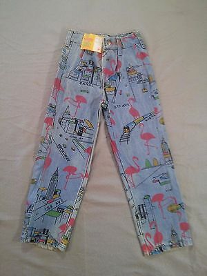 Vintage Wrangler Kids Jeans with New York Print New Old Stock with Tag size 6