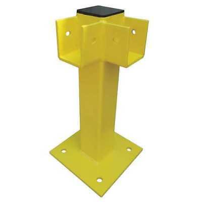Corner Post,21 In.,Yellow,Steel ZORO SELECT 22DN05
