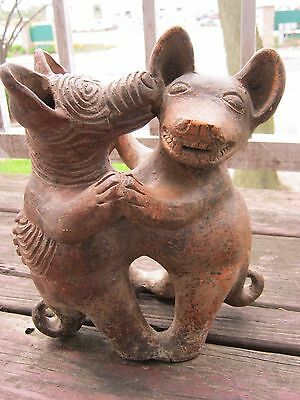 fine pre columbian style pottery antique reproduccion aztec maya hand made old