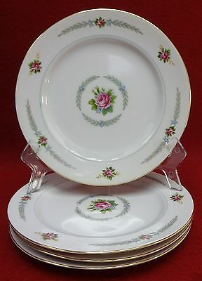 HOLLY china PEACOCK (Narumi Occupied Japan) pattern Set of 4 Salad Plates 7-1/2""