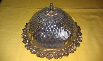Vintage Antique Brass looking Crystal/Glass Light Fixture Sconce Made in Spain