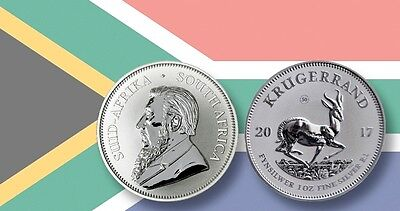 2017 South Africa 50th Anniversary Privy Silver Krugerrand Premium Uncirculated