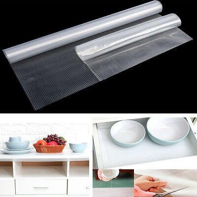 Clear Drawer Cabinet Mat Liner Non Slip Anti-Scratch Table Moisture-proof Cover