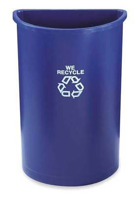 21 gal. Recycling Container Semi-Round, Blue Polyethylene