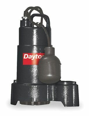 "Dayton 1/2 HP 1-1/2"" Submersible Sump Pump 115V Tether, 3BB69"
