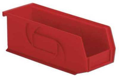 """Red Hang and Stack Bin, 10-7/8""""L x 4-1/8""""W x 4""""H LEWISBINS PB104-4 Red"""
