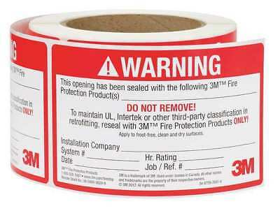 3M 54917 Label, 5 In., Red/White, 250 Labels/Roll