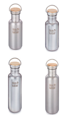 Klean Kanteen REFLECT - Mirror/Brushed Stainless Finish with Unibody Bamboo Cap