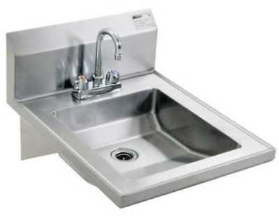EAGLE GROUP HSAP-14-FW-IF1 Hand Sink, With Faucet, 19 In. L, 24 In. W