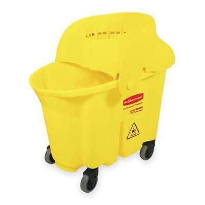 Mop Bucket and Wringer, Rubbermaid, FG759088YEL