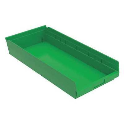 "Green Shelf Bin, 23-5/8""L x 11-1/8""W x 4""H AKRO-MILS 30-174 GREEN"