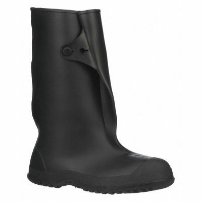 TINGLEY 35141 Overboots, Mens, S, Button Tab, Blk, PVC, 1PR