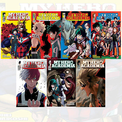 Kohei Horikoshi Collection 7 Books Set My Hero Academia Volume1-7 New Pack