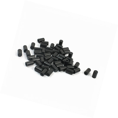 55Pcs Micro Tactile Pushbutton Switch Cap Cover Protector Black 6x10mm