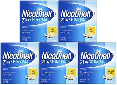 Nicotinell 21mg Patch Nicotine - Step 1 (5 x 7 Pack) 5 Weeks Supply