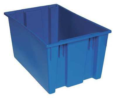 Nest and Stack Container, 29-1/2 in, Blue QUANTUM STORAGE SYSTEMS SNT300BL