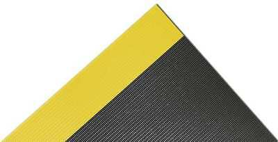75 ft. Switchboard Mat, Black with Yellow Border ,Notrax, 830C0036BY75