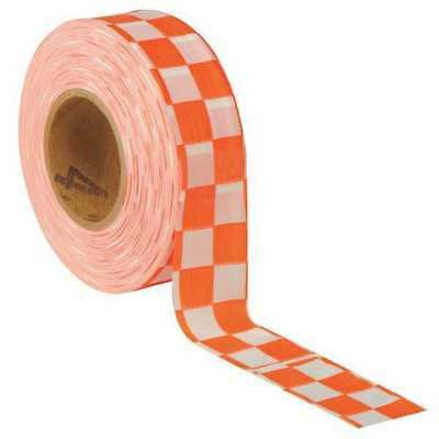 Flagging Tape,Wh/Orng,300 ft x 1-3/8 In PRESCO PRODUCTS CO CKWO-200