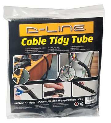 Cable Tidy Tube,Black,ABS D-LINE US/CTT1.1/GR