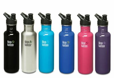 KLEAN KANTEEN CLASSIC 532ML (18oz) BOTTLE WITH SPORT CAP 3.0 - Steel Canteen