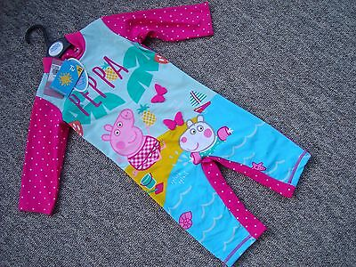 Peppa Pig Sun Suit BNWT UPF 40+ age 9 -12 months