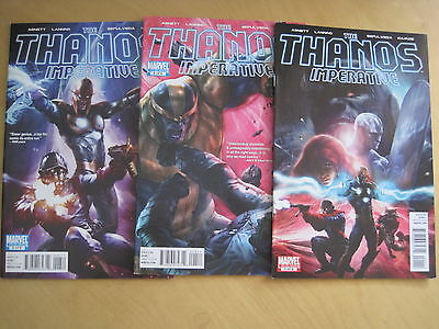 THANOS IMPERATIVE : #s  1 , 4 , 6 , by ABNETT & LANNING. MARVEL. 2010