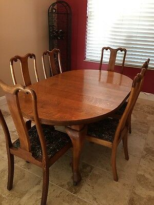 Victorian Dining Room Set Joseph Fitter England - Crank open table 6 chairs